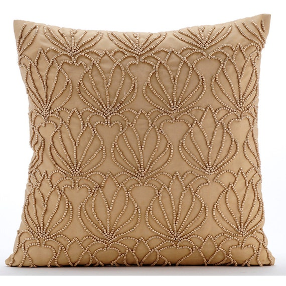 Throw Pillows Gif : Gold Throw Pillows for Bed 20x20 Pillow Covers Taffeta