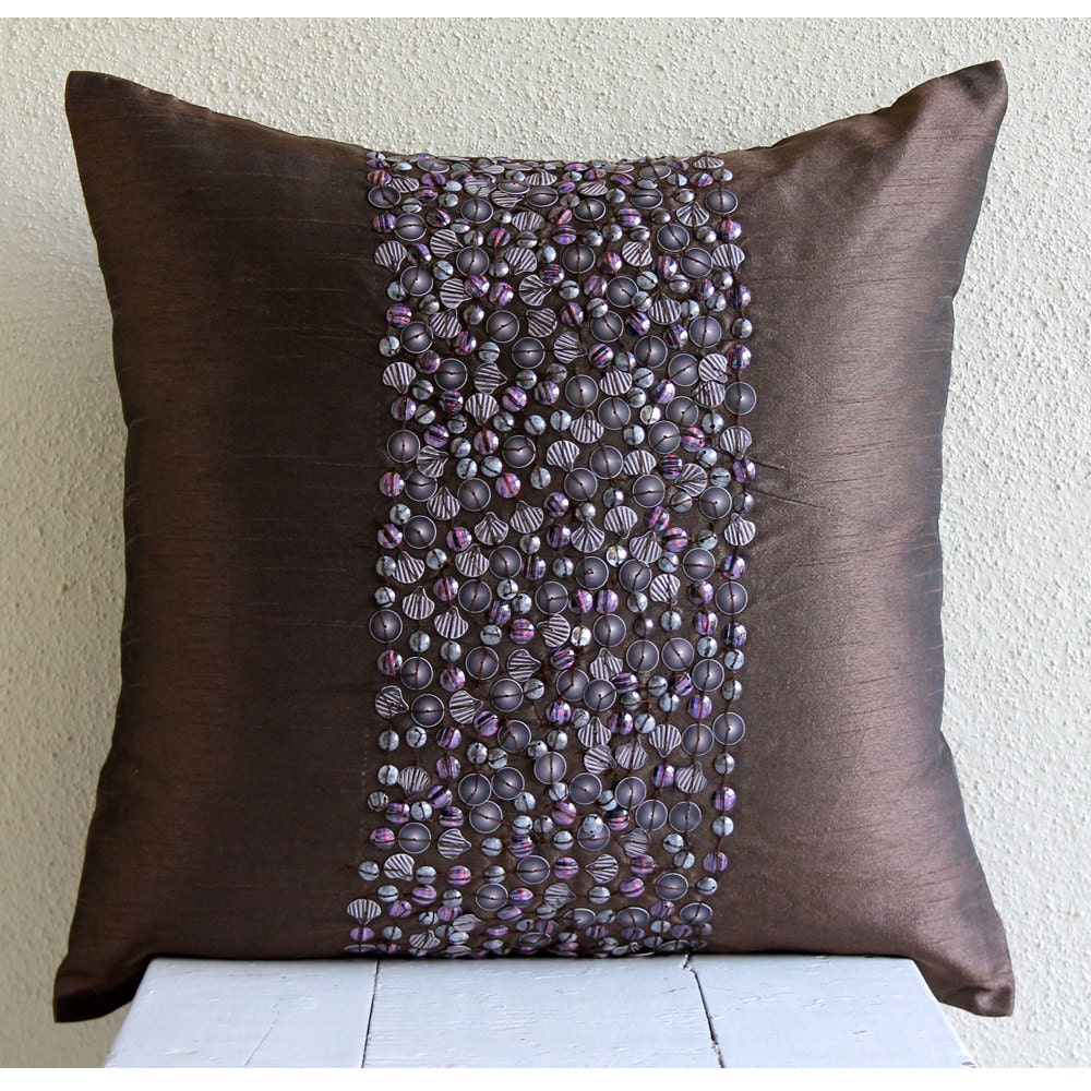 Decorative Pillows For A Brown Couch : Handmade Brown Throw Pillows Cover For Couch