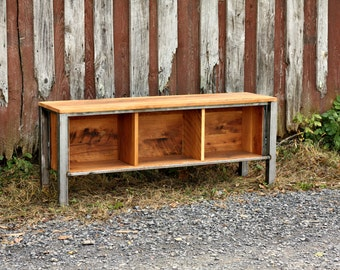 The Georgetown Metal and Reclaimed Wood Media Console