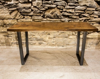 Free Shipping! The Rappahannock - Urban Modern Reclaimed Wood Table With Industrial Base