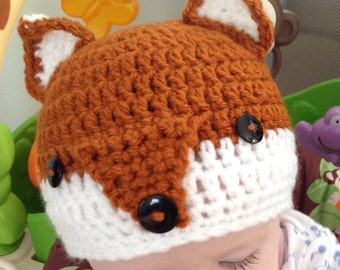 Fox hat for babies and toddlers