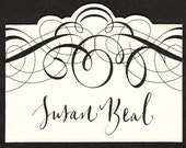Place card with Calligraphy Wedding or Event - Special Price!