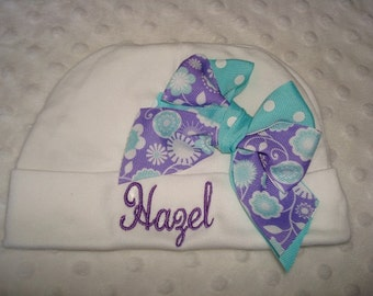 Hazel Personalized Knit Baby Cap