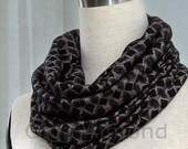 Black pink infinity scarf