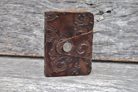 Royal Wanderer- Traveler's Pocket Journal - Handbound Embossed Leather Journal
