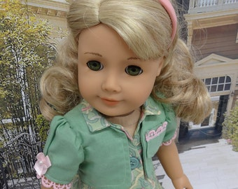 Spring Picnic - Gored Sleeveless Dress and Jacket for American Girl doll