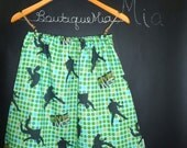 A-line SKIRT - Elvis Presley - Mod Kitchy Green - Made in ANY Size - Boutique Mia