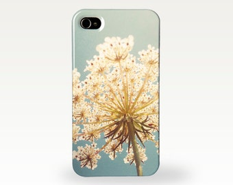 Floral Phone Case for iPhone 4/4s, 5/5s, 5c, 6, 6 Plus and Samsung Galaxy S3, S4 - Queen Anne's Lace