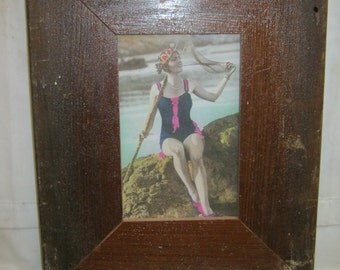 RECLAIMED WOOD Picture Frame 4x6 Shabby Recycled CHIC s2274-14