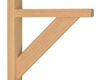 Wood Shelf Bracket- Oak Straight 8