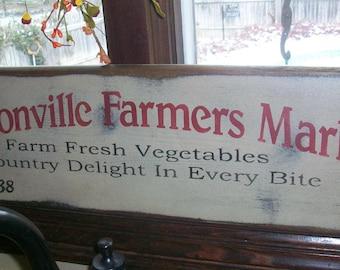 Primitive Grungy Wood Sign - JACKSONVILLE FARMERS MARKET