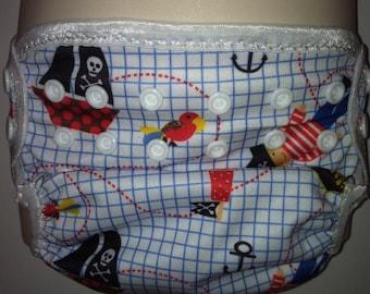 Pirates PUL  Waterproof Cloth Diaper Cover