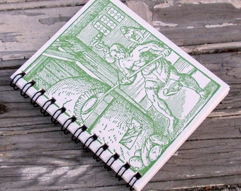 Small Notebook with a Letterpress Cover: Medieval Baker