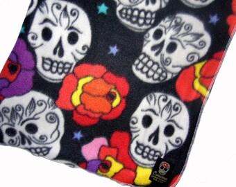 ON SALE Punk Baby - Day of the Dead - Sugar Skull - Baby Blanket - Toddler Blanket - Fleece Blanket - Stroller Blanket - Baby Girl Blanket