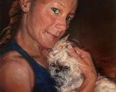 """ShihTzuLUV, custom Pet Portrait Oil Portrait Painting by puci, 10x10"""""""