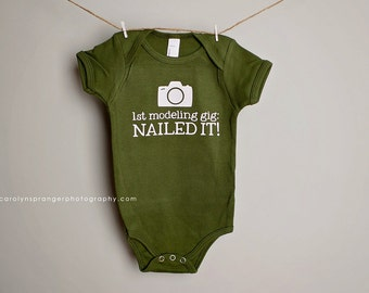 Nailed It Photography one-piece or tee (Pick Your Color & Size)
