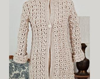Crochet cardigan PATTERN - Broomstick Cardigan