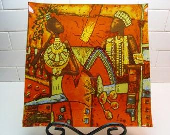 Fused Tribal Art Plate