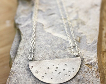 Brilliant Shine Necklace in Raw Silver Ready to Ship