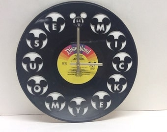 Mickey Mouse Vinyl Album Clock