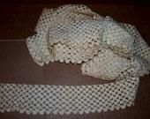 Shell Crochet Trim Vintage Sewing Cream White Cotton 13 feet