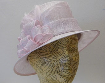 Sample SALE - Mother Of The Bride Hat - Baby Pink