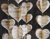 Choose Your Book Vintage Novel-Map - Music - Traditional  Paper Mobile, 3D Paper Mobile, Nursery decor, Vintage, Wedding Decoration, Hearts