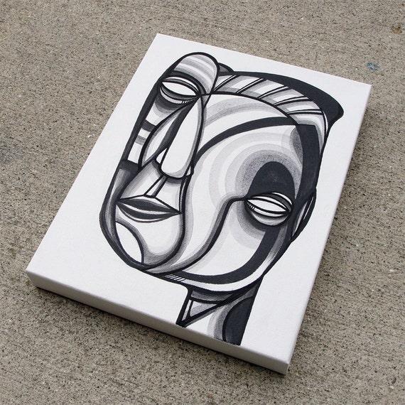"Teba - Original 11"" x 14"" Painting on Canvas - Metamorphic Portrait"