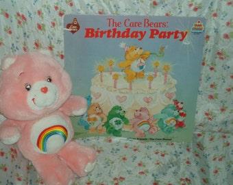 1980's Plush Cheer Care Bear And Music Album