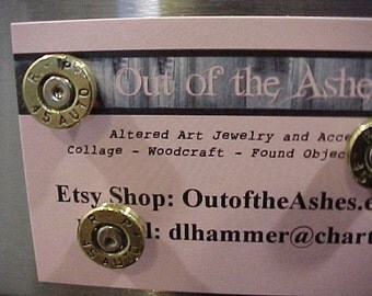 Bullet Magnets 45 Auto Brass Shell Repurposed Recycled