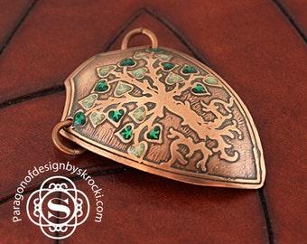 Tree of life pendant, shield pendant, tree pendant, tree shield, celtic tree of life,  family tree jewelry, family tree pendant