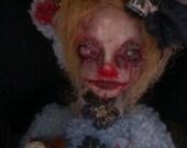 OOAK Dark Creepy Scary Merry Bear 14 Lizzie
