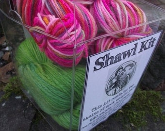 Handpainted sock yarn, shawl kit  fingerling yarn, Superwash Merino Wool 150 grams-La Cenerentola