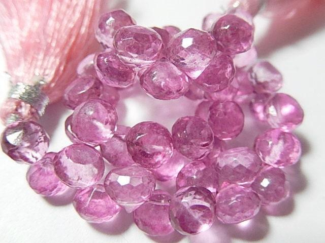 pink quartz gemstone semi precious gemstone faceted