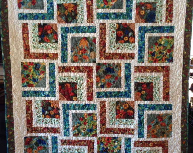 Tranquil Dreams 58 x 70 inch art quilt by O.V. Brantley