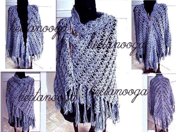 Crochet Pattern For Small Shawl : CROCHET PATTERN SHAWL make sizes small medium and large....