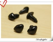 8 mm Safety Noses Doll Noses Toy Noses Amigurumi noses- black - 28 pcs EA70