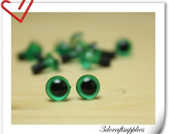 6 mm Green  Safety eye amigurumi eye doll eyes cat eye 28 pieces  EB47