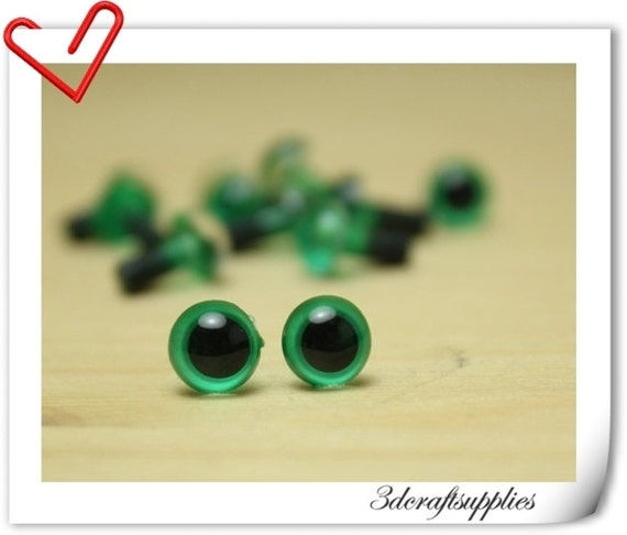 6 mm Green Safety eye amigurumi eye doll eyes cat eye 28