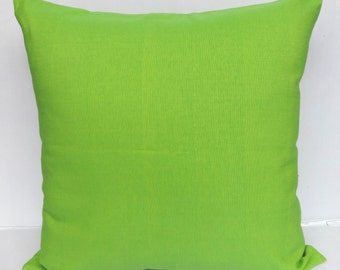 Lime Green  Cotton pillow cover. hand. vowan cotton pillow cover. cotton euro sham pillow cover. 26inch.  customised size and colours