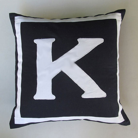 Monogram pillow- black 12inch & 14 inch-  colour of your choice  can be custom made.