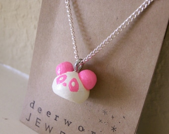 pink panda necklace