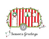 Candy Cane Christmas Camper