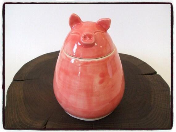 Custom Order-Super Cute Pink Pig Jar by misunrie