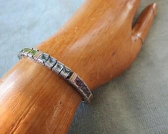 925 Thai Silver and Multi-Color Tennis Line Bracelet