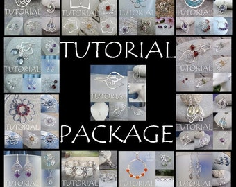 Wire Jewelry TUTORIAL PACKAGE - Buy any 3 tutorials for 12 dollars (DISCOUNT save 3 dollars) - Step by Step Wire Wrapping Wirework