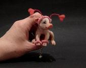 OOAK Miniature Valentine Pig Piglet by Malga