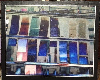 "Photo Encaustic "" Windows II"""