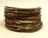 Wikkitz Bracelet in 2 Tone with Light Brown