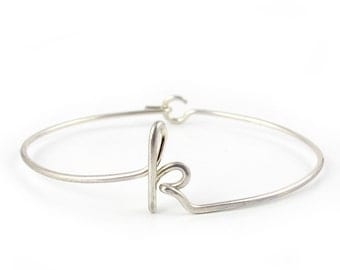 Personalized Wire Initial Bracelet-any initial available